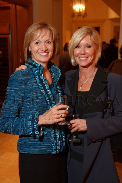 (Cherry Hills Village, Colorado, Nov. 16, 2010)<br /> Marie Belew Wheatley (Colorado Ballet executive director) and Pamela Kelker (donating artist).  ArtReach Dine & D'art Kick-Off Party at the Schneider home in Cherry Hills Village, Colorado, on Tuesday, Nov. 16, 2010.<br /> STEVE PETERSON