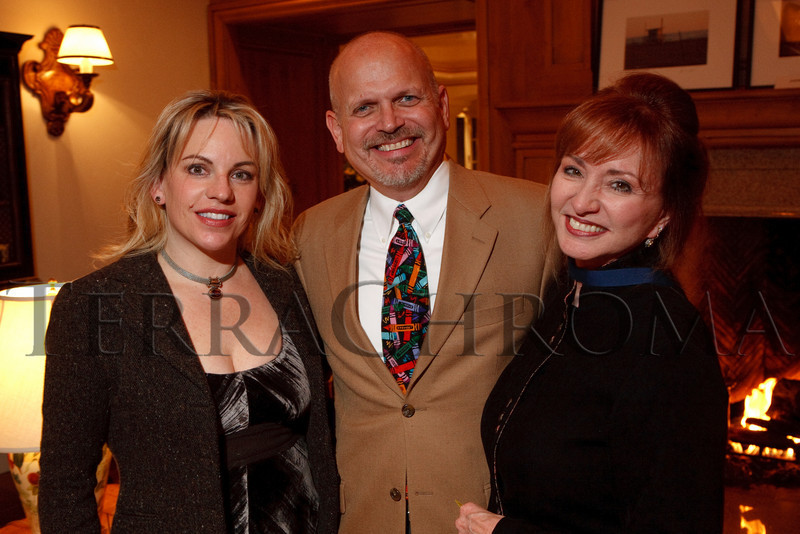 (Cherry Hills Village, Colorado, Nov. 16, 2010)<br /> Teresa Kennedy, Brad Larson (Kantorei board president), and Marsha Temple.  ArtReach Dine & D'art Kick-Off Party at the Schneider home in Cherry Hills Village, Colorado, on Tuesday, Nov. 16, 2010.<br /> STEVE PETERSON