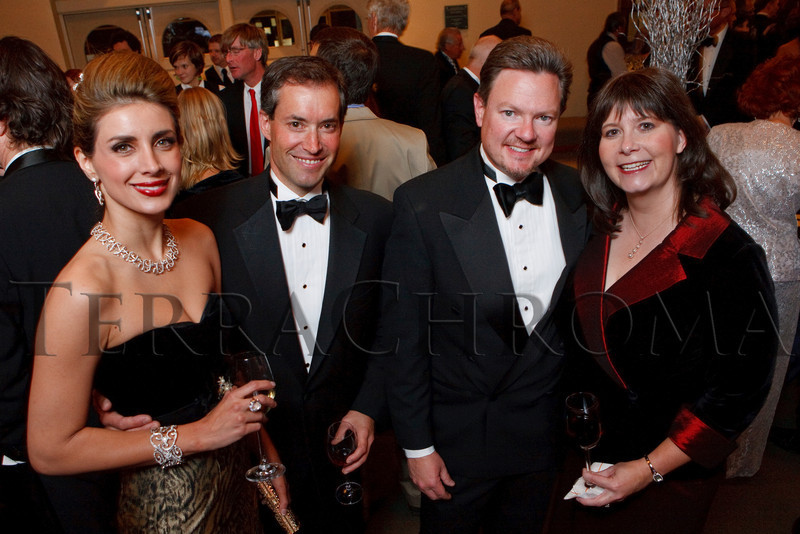 "(Denver, Colorado, Nov. 19, 2010)<br /> Alessandra and Ben Schulein (two of the six gala co-chairs) with Craig Johnson and Alicia McCommons.  ""Under the Light of the Moon,"" the Opera Colorado Gala 2010 fundraiser at the Ellie Caulkins Opera House in Denver, Colorado, on Friday, Nov. 19, 2010.<br /> STEVE PETERSON"