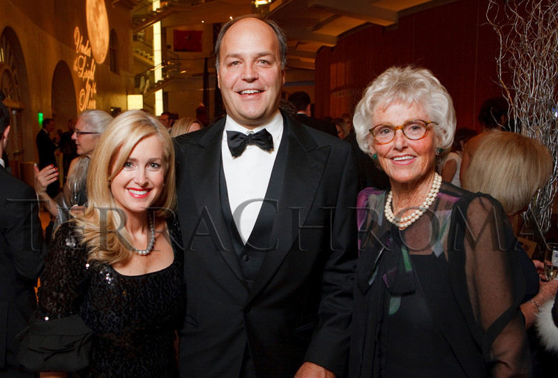 "(Denver, Colorado, Nov. 19, 2010)<br /> Britney (cq) and Dick (CEO of Janus Capital Group) Weil with Ellie Caulkins.  ""Under the Light of the Moon,"" the Opera Colorado Gala 2010 fundraiser at the Ellie Caulkins Opera House in Denver, Colorado, on Friday, Nov. 19, 2010.<br /> STEVE PETERSON"