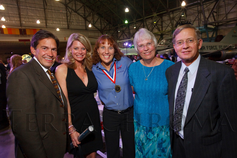 """(Denver, Colorado, Nov. 20, 2010)<br /> Dan and Dawn Horvat, Dottie Metcalf-Lindenburger, and Joyce and Keith Metcalf (Dottie's parents).  The 2010 """"Spreading Wings Gala,"""" benefiting Wings Over the Rockies and the Spreading Wings youth education programs, at the Wings Over the Rockies Air & Space Museum in Denver, Colorado, on Saturday, Nov. 20, 2010.<br /> STEVE PETERSON"""