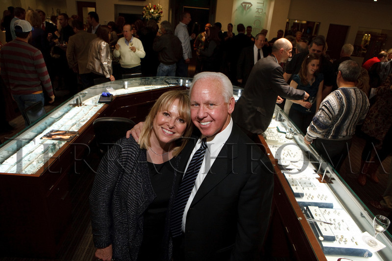 (Centennial, Colorado, Nov. 27, 2010)<br /> Anne and Ralph Klomp.  Grand opening of Trice Jewelers at The Streets at SouthGlenn in Centennial, Colorado, on Saturday, Nov. 27, 2010.<br /> STEVE PETERSON