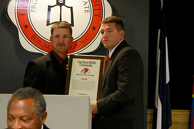 Athletic Hall of Fame banquet for inductees, families, and supporters; October 22, 2010.