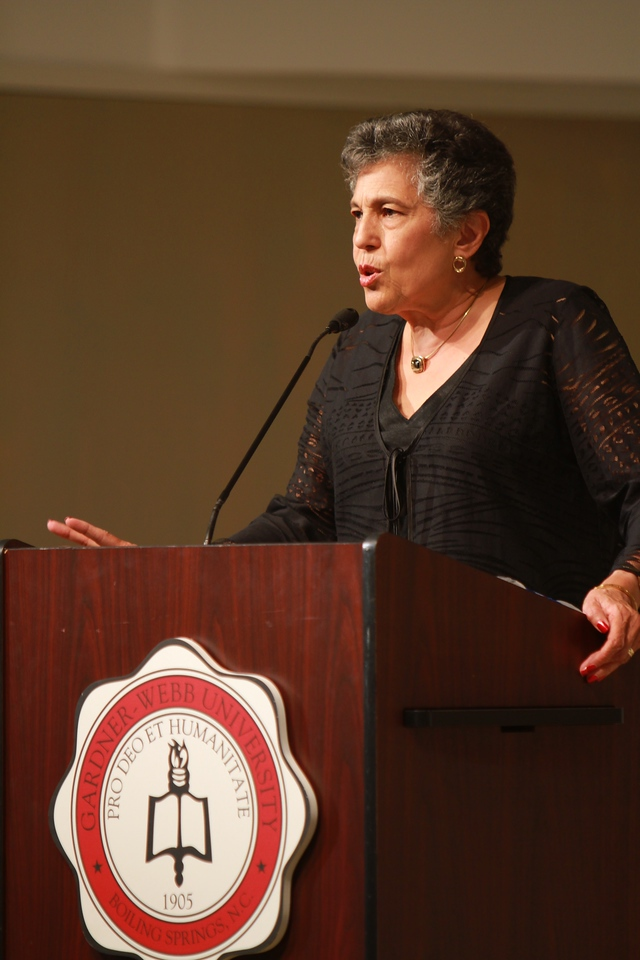 Cralotta Walls LaNier, a member of the Little Rock Nine, visits the campus of Gardner-Webb University to speak to the students and community.