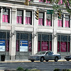 Pretty in pink: The Old national Bank building at 7th and Wabash shows its support for the Race For The Cure.