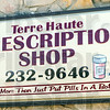 Raided: Sign of the Terre Haute Prescription Shop located on south 7th Street.