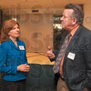 Tribune-Star/Joseph C. Garza<br /> State of recycling: West Central Indiana Recycling Summit Keynote speaker, Carey Hamilton, talks with Ed Skernolis, vice president of Recycling Keeps America Beautiful, after Hamilton's presentation Thursday at Rose-Hulman.
