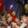 I was there: Trenton Williams raises his hand in response to questions leading up his being honored as a Riley Champion.