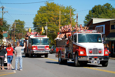 Homecoming Parade down Main Street in Boiling Springs; October 23, 2010.