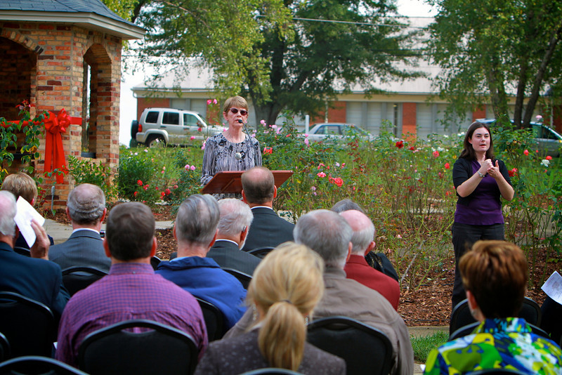 Dedication Ceremony for the Jack Partain Rose Pavillion; October 20, 2010.