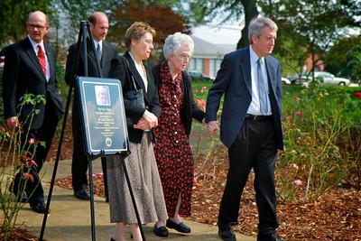 Dedication Ceremony for the Jack Partain Rose Pavillion; October 20, 2010.