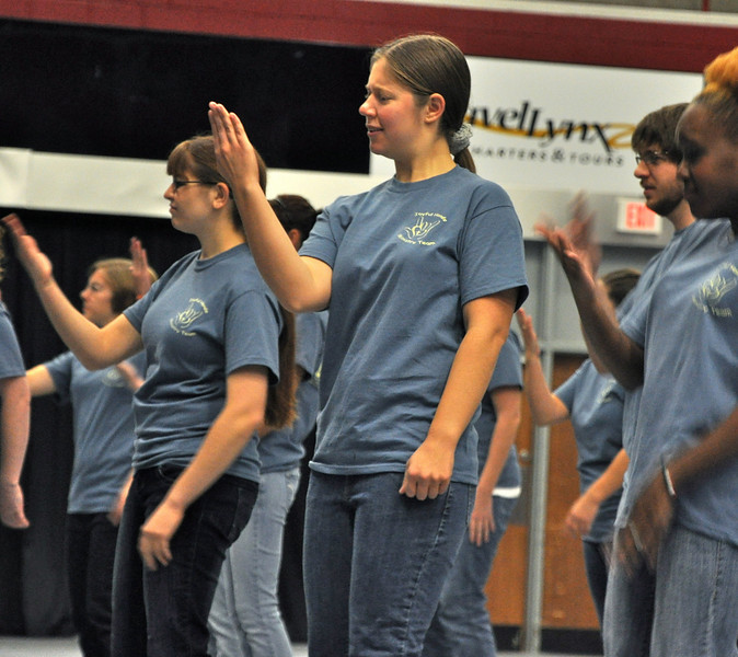 GWU's Joyful Hands perform at the DAWG Day.