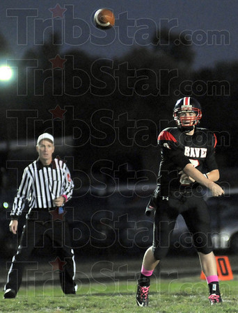 Flight: South quarterback Danny Etling watches the flight of his throw during second quarter action Friday night.