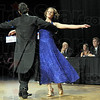 Dancing: Hannah Kinnett dances with her professional partner Brandon Halleck during Friday's Dancing With The Stars event at Hulman Center. Judges Chris Newton, Jenny Strole and Mayor Duke Bennett watch the action.