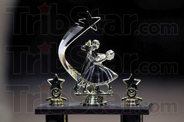 Trophy: Detail of Dancing With The Stars trophy.