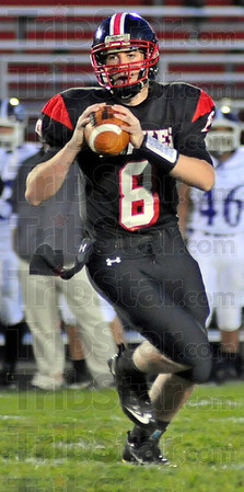 Looking: Danny Etling looks for a reciever in first quarter action against Brownsburg.
