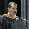 Welcome: Harrison College's Brennan J. Randolph welcomes graduating students to Friday's Commencement Exercise Program.