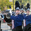 North: Members of the Terre Haute North band play during their performance in the annual Blue and White Parade.