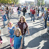 Parade crowd: Thousands of people saturated the downtown area Saturday morning for the annual Blue and White Parade.