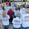 """Roadies: United States Congressman Mike Pence and his """"Road Team"""" stopped at the Wabash Valley Fairgrounds Saturday morning to lend his weight to fellow Republican Larry Buschon."""
