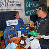 Looking: Bonnie King of Meadows Manor North answers questions posed by Larry Griffin at the Senior Expo Saturday morning.