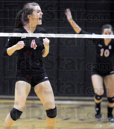 Yes: South's #4, Sloan Stephens celebrates a point during Saturday's match with Plainfield.