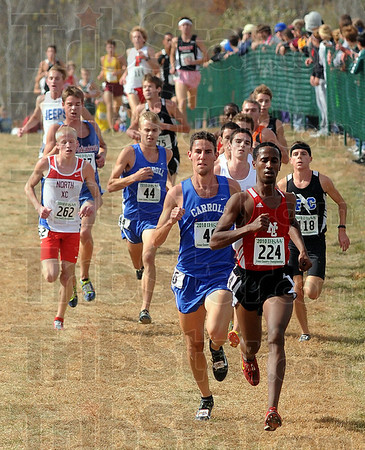 No stopping him: North Central( Indianapolis) runner Futsum Zeinasellassie leads all runners including Patriot runner John Mascari(262).