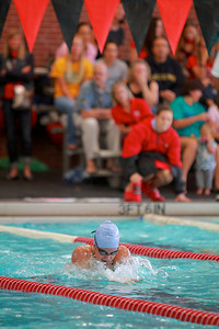 Swimming v UNC Wilmington to help support breast and colon cancer awareness; October 23, 2010.