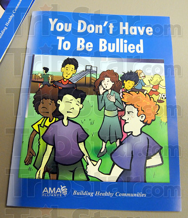 Bullied: Detail photo of materials used at Wednesday's Anti-bullying Program at the Children's Museum.