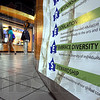 "Embracing: ""We embrace the diversity of individuals, ideas and expression"" is one of the bullet points on posters around the Indiana State University campus that proclaim the school's mision, vision and values."