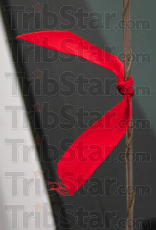 Detail: Detail shot of red ribbon on antenna