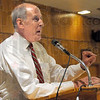 Former Senator: Dan Coats speaks with the Tea Party faithful at the Zorah Shrine Wednesday night.