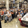Full house: Senator John Thune speaks at a Tea Party rally event at the Zorah Shrine Temple Wednesday evening. About four hundred people attended the event.