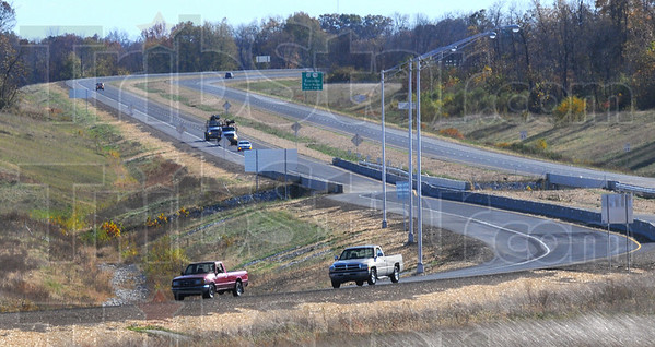 In bound: Traffic heads north on the 641 bypas toward the McDaniel Road interchange.