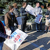 Vote event: A small group of students and supporters of Vote 2010 gather on Dede Plaza Tuesday morning for early voting.