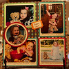 Anna's scrapbook page for her week with Bizzy Bear