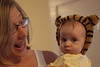 Aunt Michelle likes the tiger ears.  Anna's not so sure...