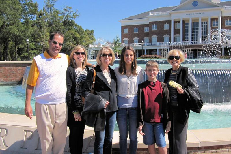 Family day at Elon, visiting Cristina