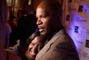 "(Denver, Colorado, Oct. 2, 2010)<br /> DeOndra Dixon with big brother, Jamie Foxx, as he is interviewed on the red carpet.  The ""Be Beautiful Be Yourself Jet Set Fashion Show 2010,"" benefiting the Global Down Syndrome Foundation, at Hyatt Regency Denver at the Colorado Convention Center in Denver, Colorado, on Saturday, Oct. 2, 2010.<br /> STEVE PETERSON"