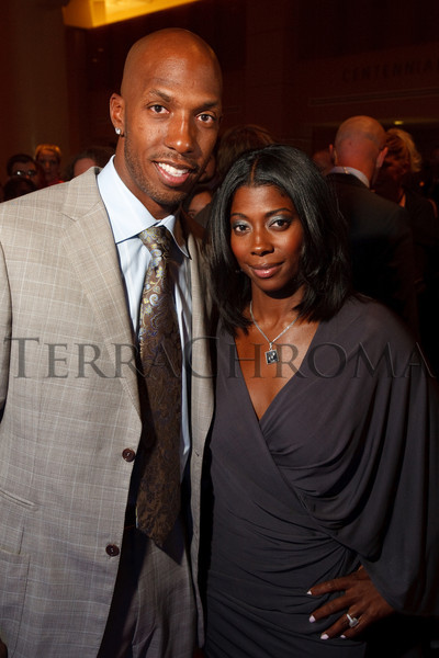"(Denver, Colorado, Oct. 2, 2010)<br /> Chauncey and Piper Billups.  The ""Be Beautiful Be Yourself Jet Set Fashion Show 2010,"" benefiting the Global Down Syndrome Foundation, at Hyatt Regency Denver at the Colorado Convention Center in Denver, Colorado, on Saturday, Oct. 2, 2010.<br /> STEVE PETERSON"