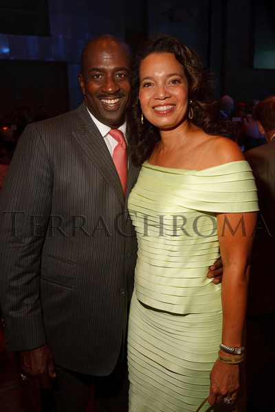 "(Denver, Colorado, Oct. 2, 2010)<br /> Greg Moore and Nina Henderson Moore.  The ""Be Beautiful Be Yourself Jet Set Fashion Show 2010,"" benefiting the Global Down Syndrome Foundation, at Hyatt Regency Denver at the Colorado Convention Center in Denver, Colorado, on Saturday, Oct. 2, 2010.<br /> STEVE PETERSON"