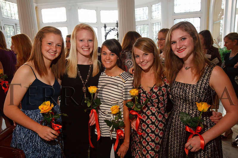 "(Denver, Colorado, Oct. 6, 2010)<br /> Ellie Toll, Courtney ""Coco"" Wham, Callan Bechter, Meghan Gahm, and Louise DeGette.  The Central City Opera 2011 Flower Girl Presentation at the Governor's Residence at the Boettcher Mansion in Denver, Colorado, on Wednesday, Oct. 6, 2010.<br /> STEVE PETERSON"