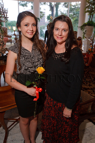 (Denver, Colorado, Oct. 6, 2010)<br /> Genevieve Crawford and Madeline Collison (mother).  The Central City Opera 2011 Flower Girl Presentation at the Governor's Residence at the Boettcher Mansion in Denver, Colorado, on Wednesday, Oct. 6, 2010.<br /> STEVE PETERSON