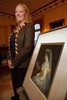 (Denver, Colorado, Oct. 6, 2010)<br /> Diane Freyer Schneider with a portrait of Gladys Cheesman-Evans, her grandmother.  The Central City Opera 2011 Flower Girl Presentation at the Governor's Residence at the Boettcher Mansion in Denver, Colorado, on Wednesday, Oct. 6, 2010.<br /> STEVE PETERSON