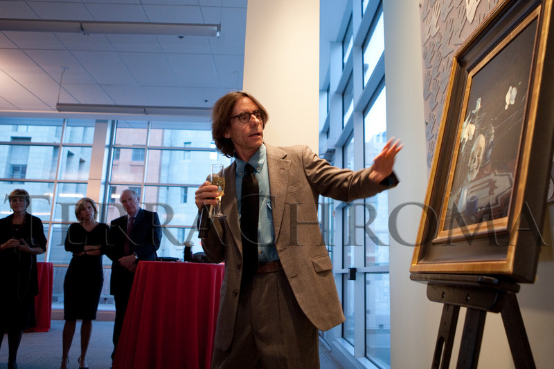 "(Denver, Colorado, Oct. 16, 2010)<br /> Daniel Sprick speaks about his painting and answers questions.  ""Salon du Musée,"" benefiting the Denver Art Museum, at the Denver Art Museum in Denver, Colorado, on Saturday, Oct. 16, 2010.<br /> STEVE PETERSON"