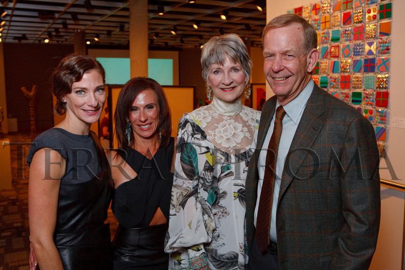 "(Denver, Colorado, Oct. 16, 2010)<br /> Natalie Rekstad-Lynn, Carmel Koeltzow, and Cathey and Dick Finlon.  ""Salon du Musée,"" benefiting the Denver Art Museum, at the Denver Art Museum in Denver, Colorado, on Saturday, Oct. 16, 2010.<br /> STEVE PETERSON"