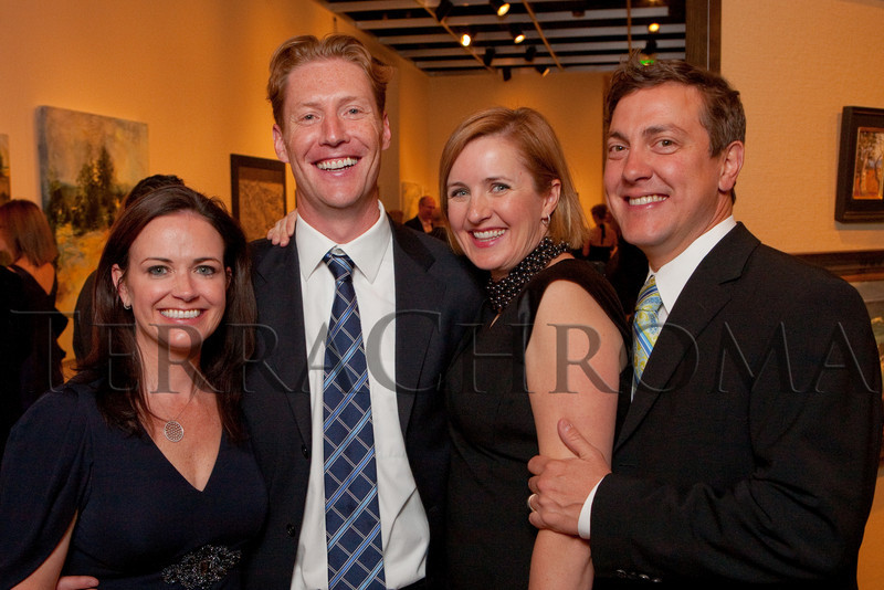 "(Denver, Colorado, Oct. 16, 2010)<br /> Pam and Patrick Hatcher with Heidi and Kurt Hardin.  ""Salon du Musée,"" benefiting the Denver Art Museum, at the Denver Art Museum in Denver, Colorado, on Saturday, Oct. 16, 2010.<br /> STEVE PETERSON"