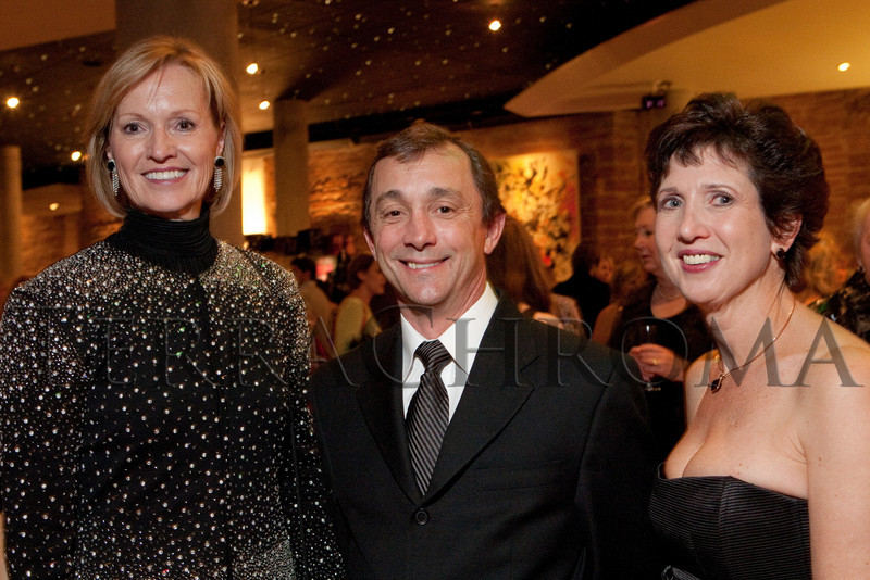 (Denver, Colorado, Oct. 21, 2010)<br /> Marie Wheatley (CB executive director), Gil Boggs (CB artistic director), and Denise Sanderson (CB Board of Trustees chair).  Colorado Ballet 50th anniversary celebration at the Ellie Caulkins Opera House in Denver, Colorado, on Thursday, Oct. 21, 2010.<br /> STEVE PETERSON