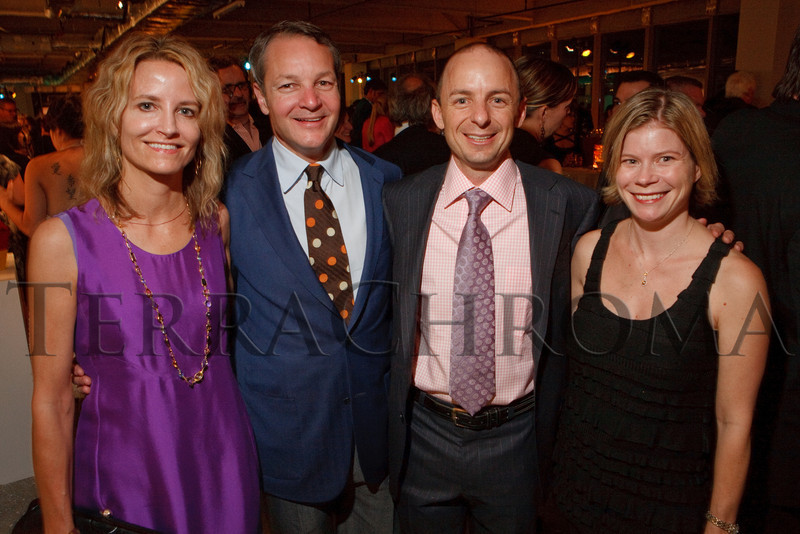 """(Denver, Colorado, Oct. 28, 2010)<br /> Ellen Bruss and Mark Falcone with James and Alicia Deters.  """"2010 Luminocity Gala,"""" a benefit for the Museum of Contemporary Art Denver, at 1900 Sixteenth Street in Denver, Colorado, on Thursday, Oct. 28, 2010.<br /> STEVE PETERSON"""