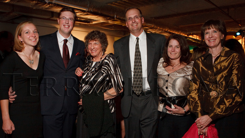 """(Denver, Colorado, Oct. 28, 2010)<br /> Hailey Wilmer, Sam Cannon, Sue Cannon (MCA founder), Jim and Karen Cannon, and Maggie Morrissey.  """"2010 Luminocity Gala,"""" a benefit for the Museum of Contemporary Art Denver, at 1900 Sixteenth Street in Denver, Colorado, on Thursday, Oct. 28, 2010.<br /> STEVE PETERSON"""